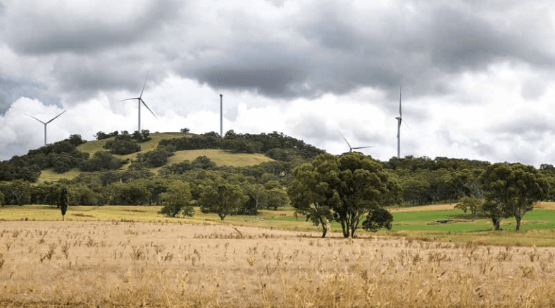 White Rock Wind Farm turbines
