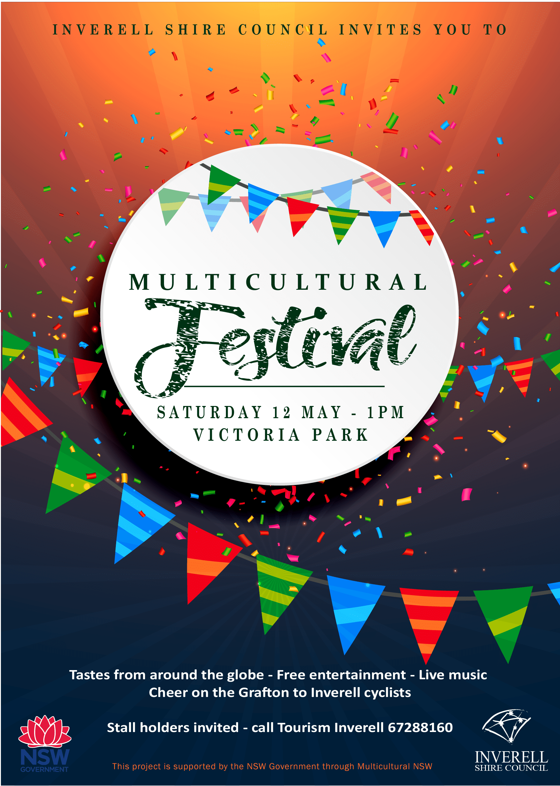 event flyer multicultural festival 2018 inverell shire