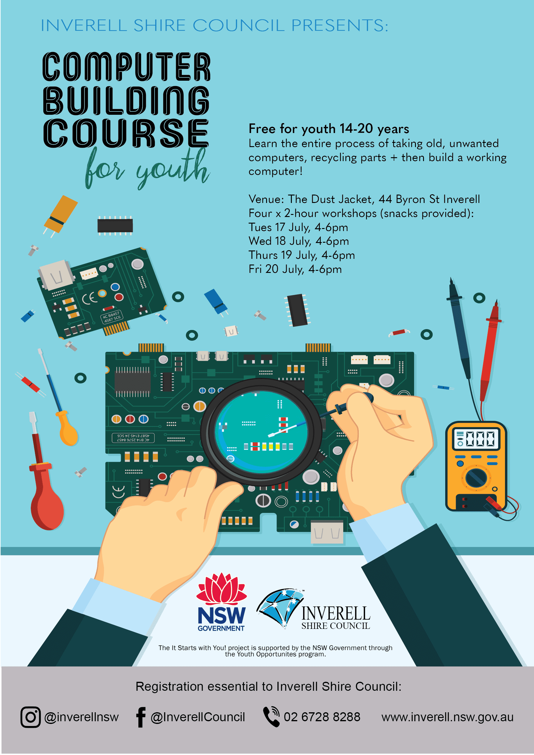 Building Computer Diagram Trusted Wiring Parts Of A Laptop Workshop Poster Inverell Shire Councilinverell Ports