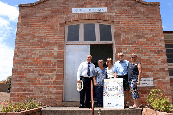 Image: L-R Inverell Shire Council's Scott Norman with Delungra CWA President Mary Shephard, CWA State Vice President Roma Bundock, Mayor Paul Harmon and Treasurer Kerry McDonald.