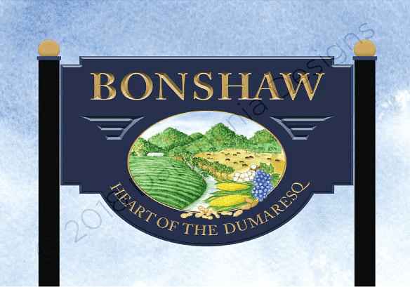 The winning design of Bonshaw's soon-to-be installed signs.