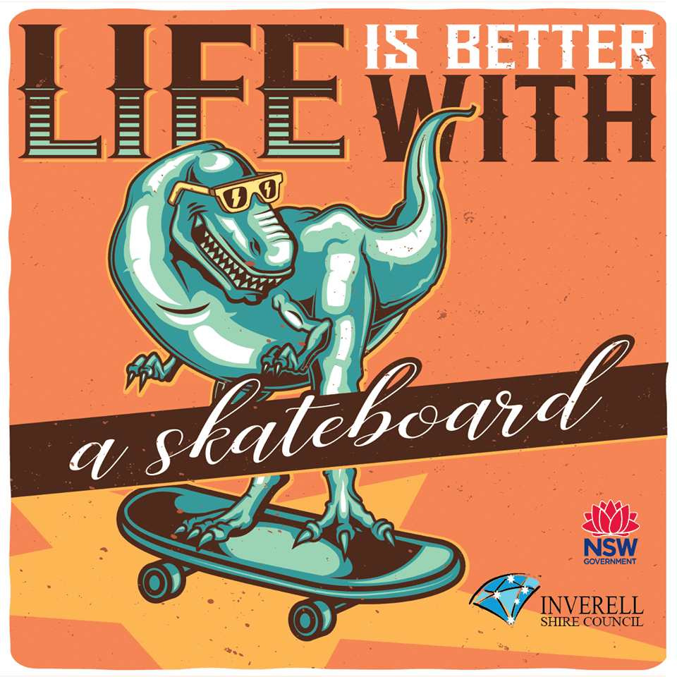 Skateboarding Session - 18th April 2019 - 10:30am - 3pm - Inverell Stakepark