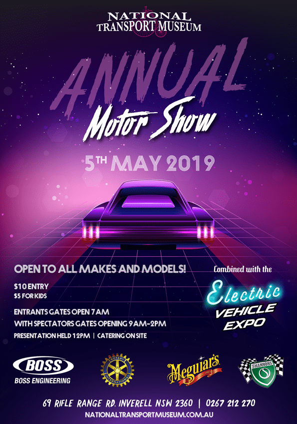 Annual Motor Show - 5th May 2019 - National Transport Museum