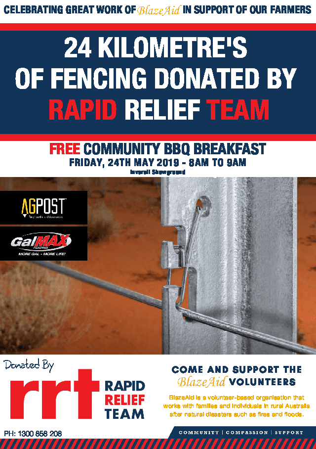Free Community BBQ Breakfast - 24 May 2019, 8am - 9am - Inverell Showground