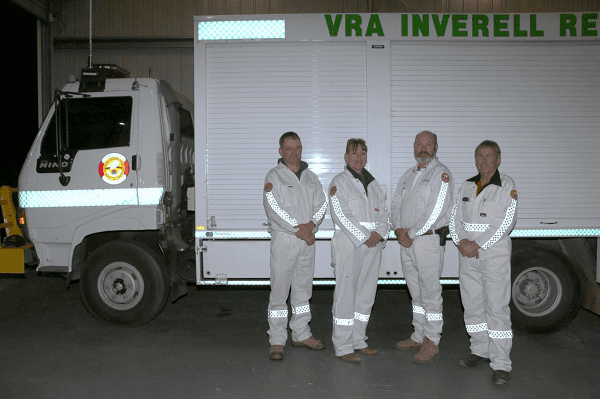 Image: Inverell VRA Members Scott Marshall, Kylie South, Jason Tom and Frank Fleming.