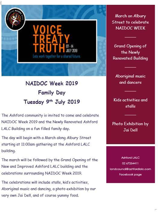 Ashford NAIDOC Week Celebration - 9 July 2019, 11am