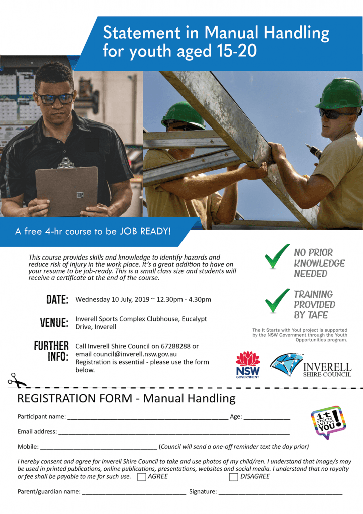 Manual Handling Registration Form