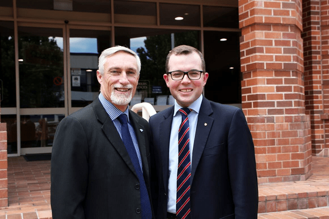 Image: Mayor Paul Harmon will be working with Member for Northern Tablelands Adam Marshall to seek funding opportunities.