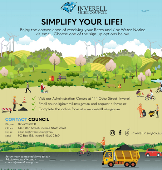 Simplify your life! Sign up to receive you rates & water notices by email!