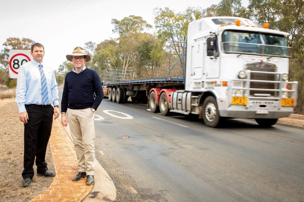 Photo caption: Inverell Shire Council's Manager Civil Engineering Justin Pay, left, with Northern Tablelands MP Adam Marshall on Jardine Road, which will undergo a $700,000 upgrade from next week.