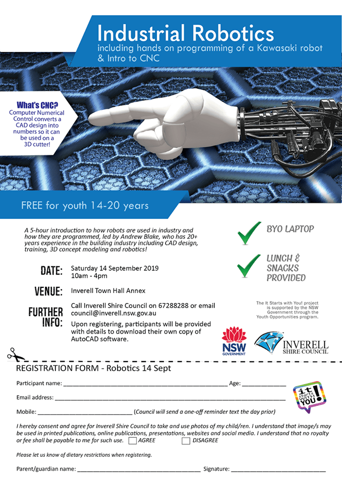 Robotics Class For Youth aged 14-20 years - Click to download registration form