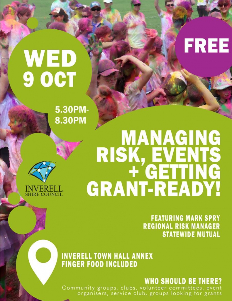 Managing Risk, Events and Getting Grant-Ready