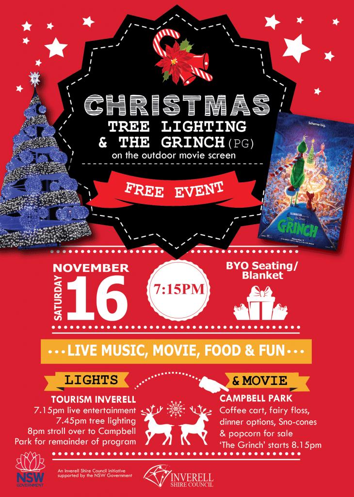 Christmas Tree Lighting and Outdoor Movie