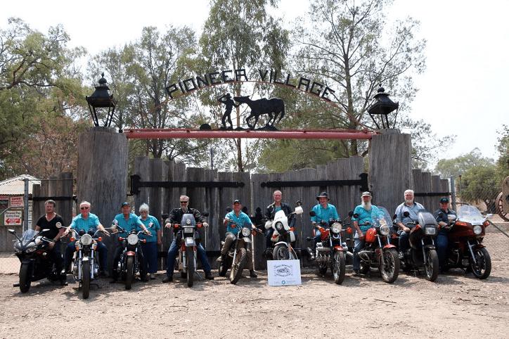 Photo: Inverell Motorcycle Restorers Club members ahead of their weekly outing.