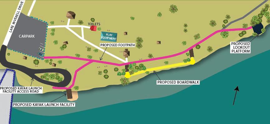 Photos: A concept plan of the Lake Inverell improvements.