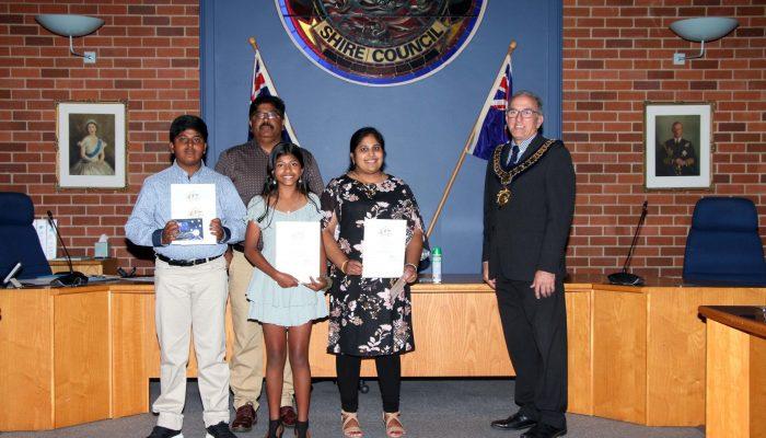 Citizenship recipients, Mrs Sheeba Baby & children, Alen & Lidiya Varghese from India (Lidiya - Ireland) - March 2020 Citizenship Ceremony