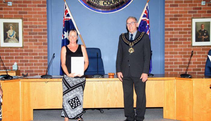 Citizenship recipient, Mrs Michelle Fallon from the United Kingdom - March 2020 Citizenship Ceremony