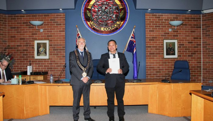 Citizenship recipient - Emmanuel Manallo of the Philippines - July 2020 Citizenship Ceremony