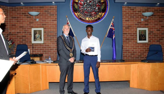 Citizenship recipient - Piaget Abayo of Tanzania - July 2020 Citizenship Ceremony