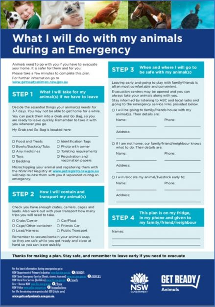 Animal Emergency Plan