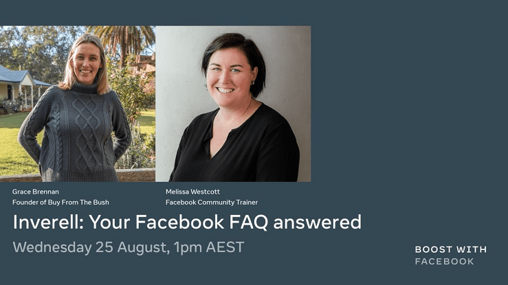 Image: Grace Brennan and Melissa Westcott will lead the Q&A session on 25 August.