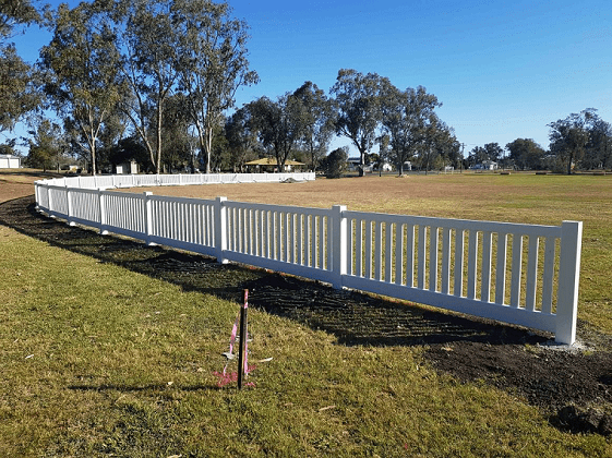 Image: The new boundary fence at Terry Barnes Oval.