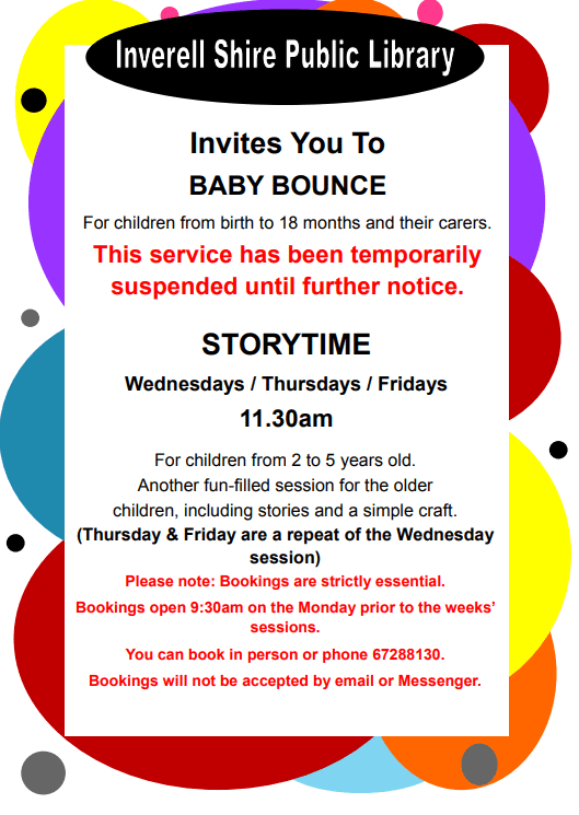 Inverell Library Storytime