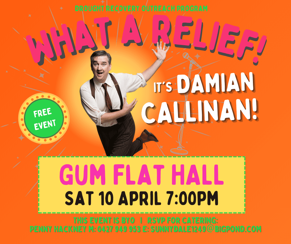 What a relief comedy show - Gum Flat - 10 April 2021